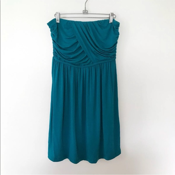 Tart Dresses & Skirts - TART teal strapless dress